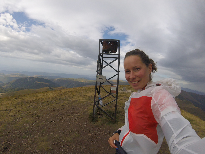 Антония Григорова на връх Ком