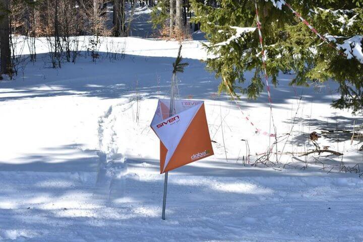 Контролна точка на състезание по ски ориентиране