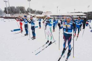 Станимир Беломъжев на старта на средната дистанция наesoc2020