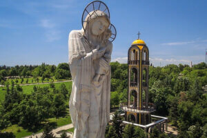 Хасково, монумент св. Богородица