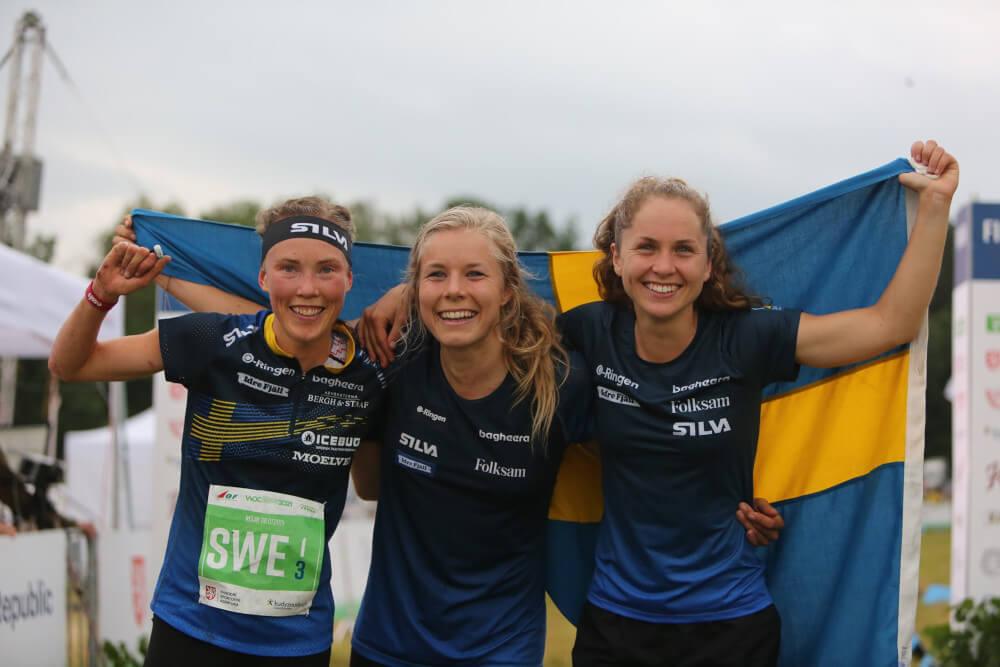 Швеция, щафета жени